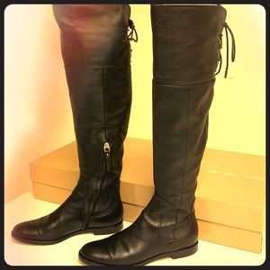 Sergio Rossi over-the-knee black boots